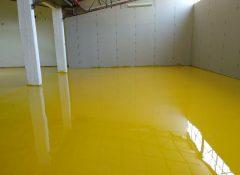 חיפוי באפוקסי צהוב לרצפות למפעלים ולתעשייה