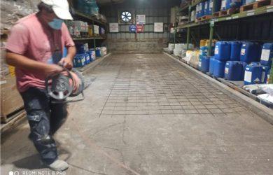 יציקה והחלקת בטון למחסן חומרים בפתח תקווה